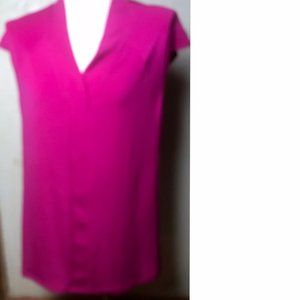 Simonton Says New Bright Pink Tunic Top Size L
